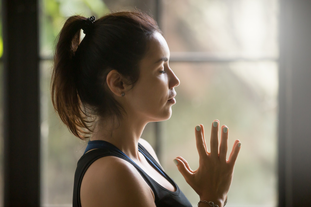 yoga breathing exercise