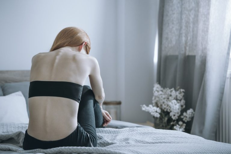 Girl suffering from bulimia