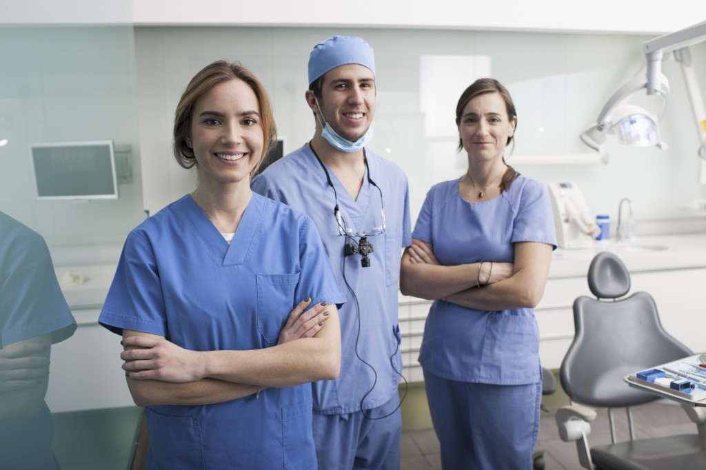 Dentists at the clinic