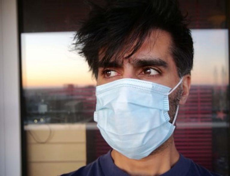 man wearing a facemask